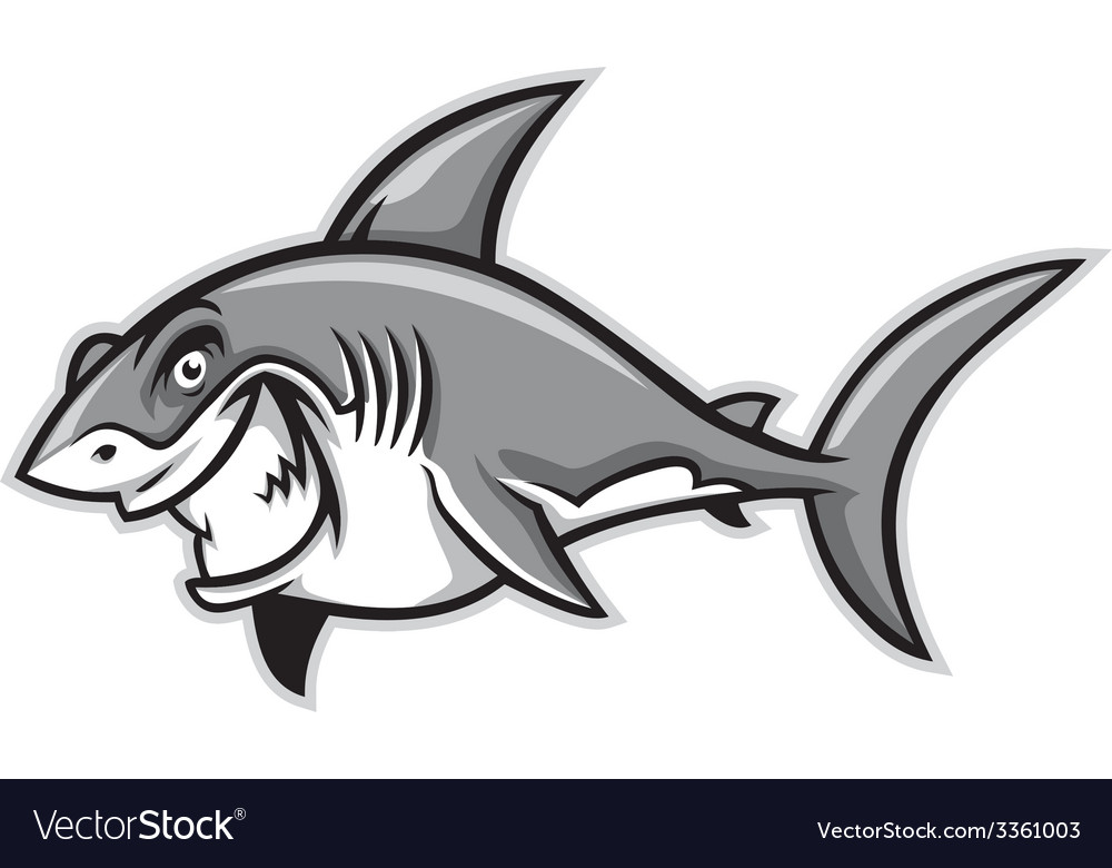 Great white shark smiling vector | Price: 3 Credit (USD $3)