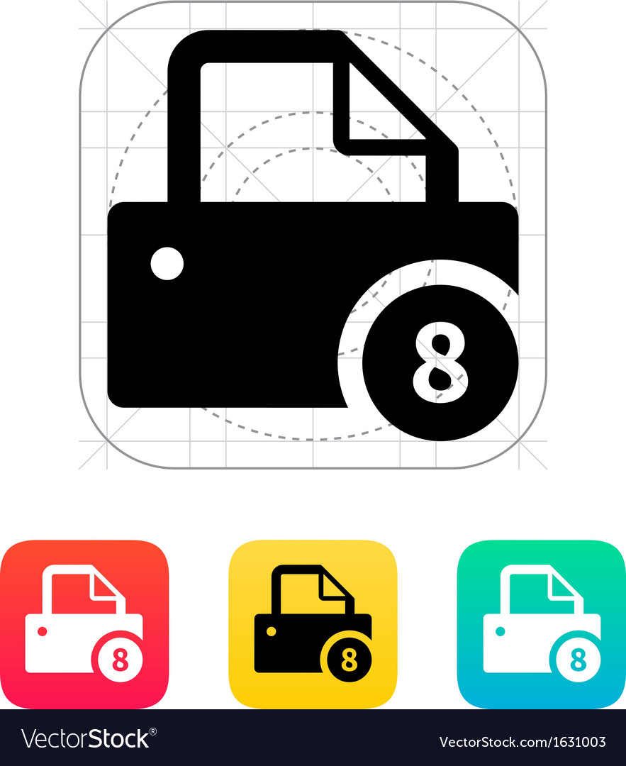 Printer with number icon vector | Price: 1 Credit (USD $1)