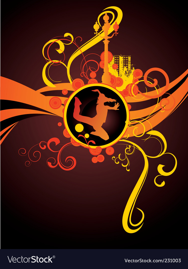 Red light city night dance vector | Price: 1 Credit (USD $1)