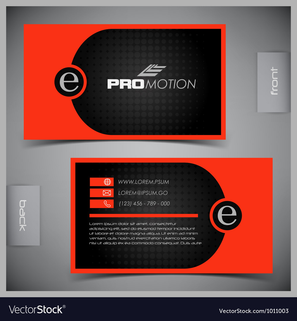 Set of creative business cards vector | Price: 1 Credit (USD $1)