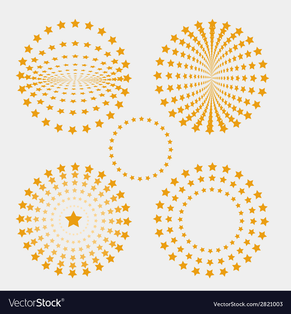 Set of star circle vector | Price: 1 Credit (USD $1)