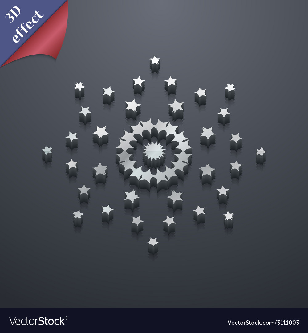 Stars icon symbol 3d style trendy modern design vector | Price: 1 Credit (USD $1)