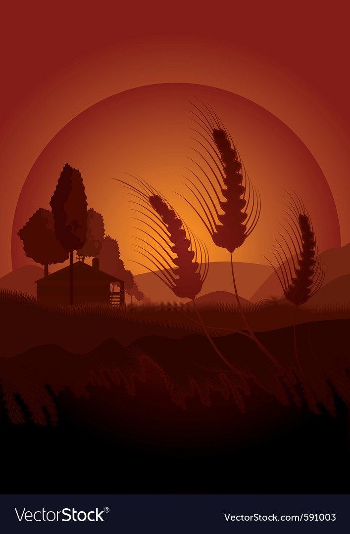 Summertime farming vector | Price: 1 Credit (USD $1)