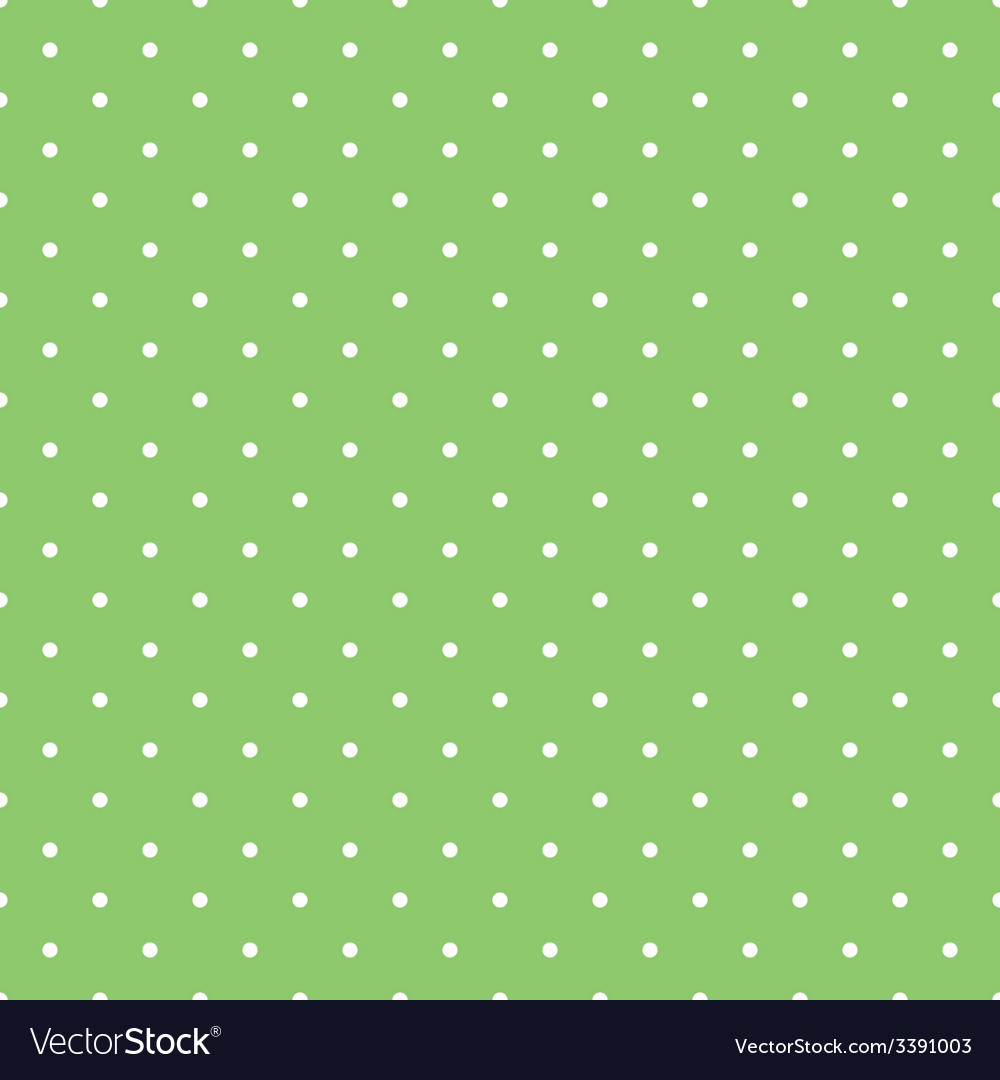 Tile spring green pattern with white polka dots vector | Price: 1 Credit (USD $1)