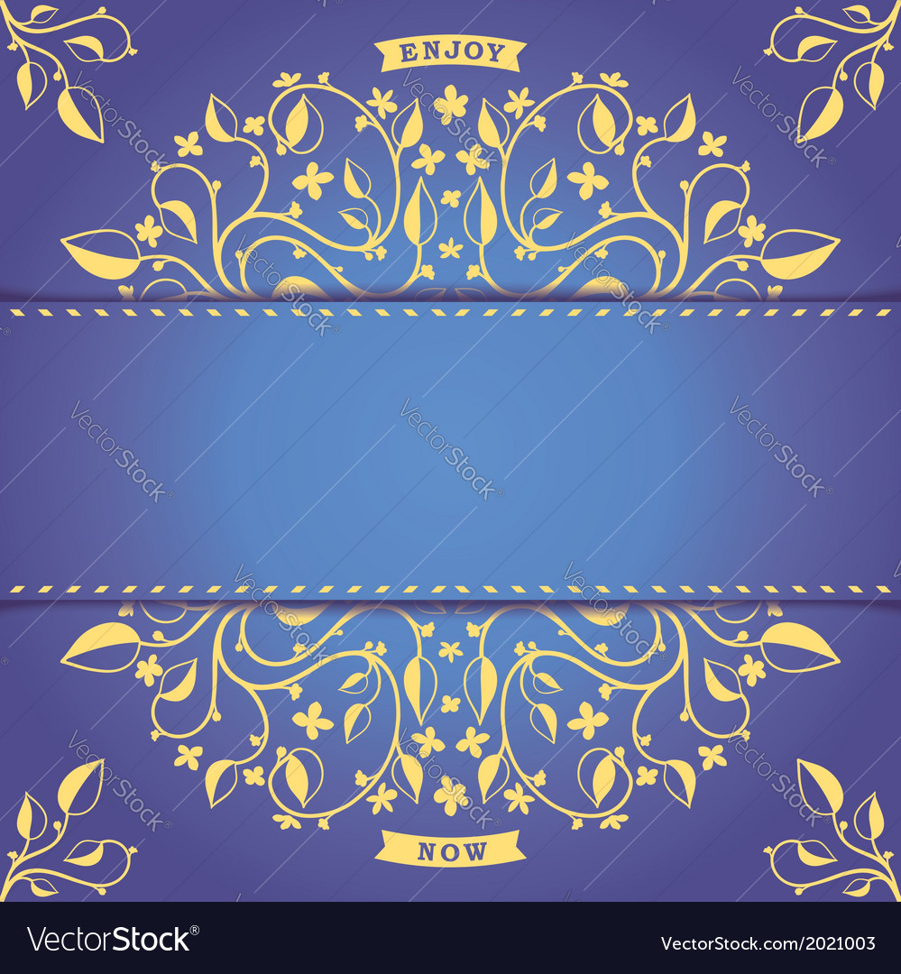 Vintage postcard template with pattern vector | Price: 1 Credit (USD $1)