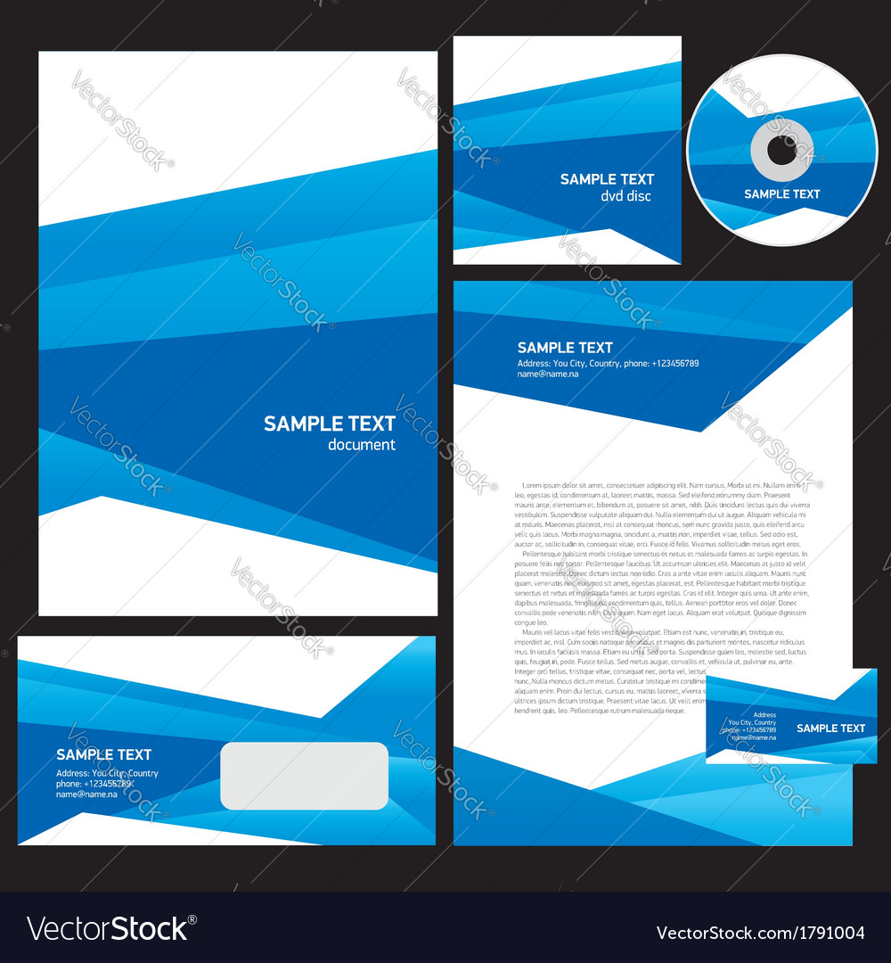 Abstract creative corporate identity triagle vector | Price: 1 Credit (USD $1)