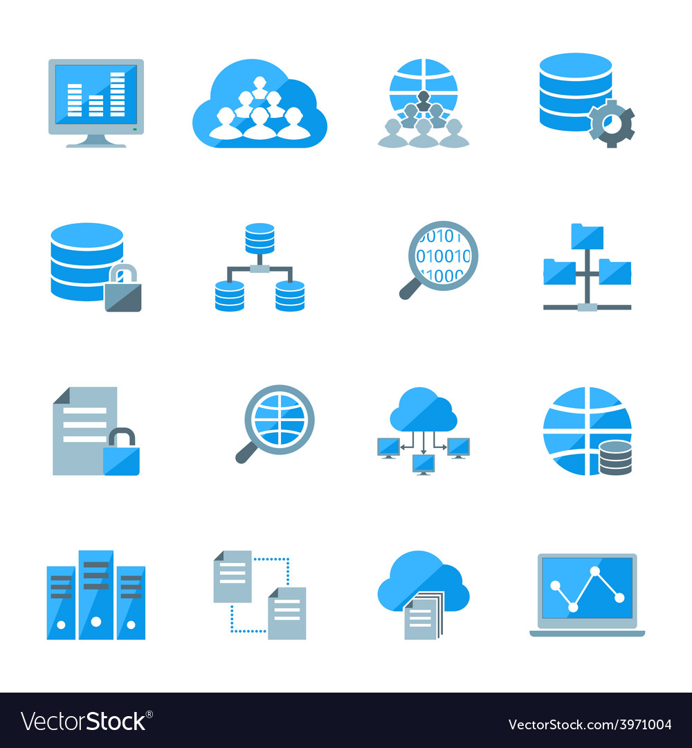 Big data icons vector | Price: 1 Credit (USD $1)