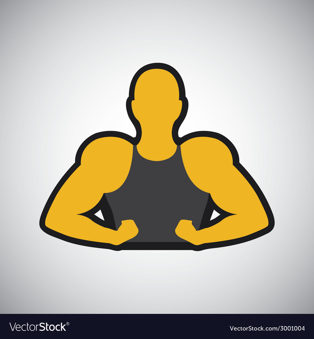 Bodybuilder design vector | Price: 1 Credit (USD $1)