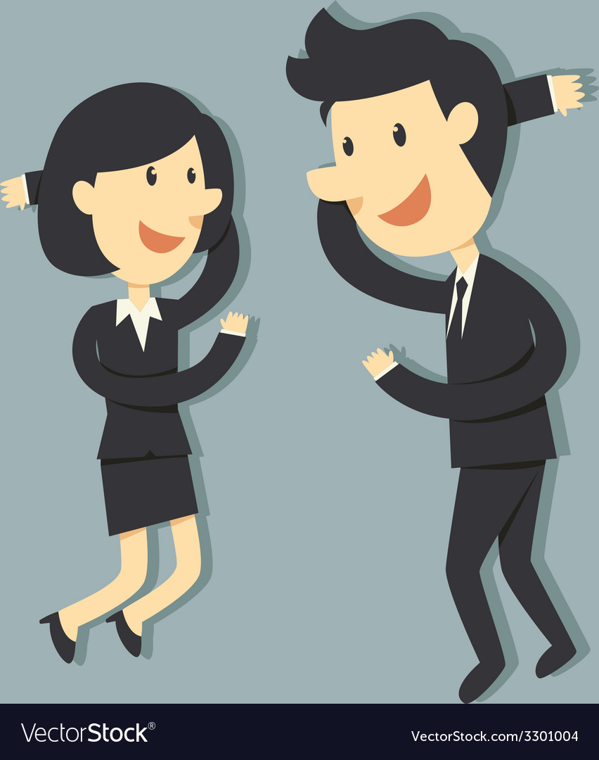Couple business vector | Price: 1 Credit (USD $1)