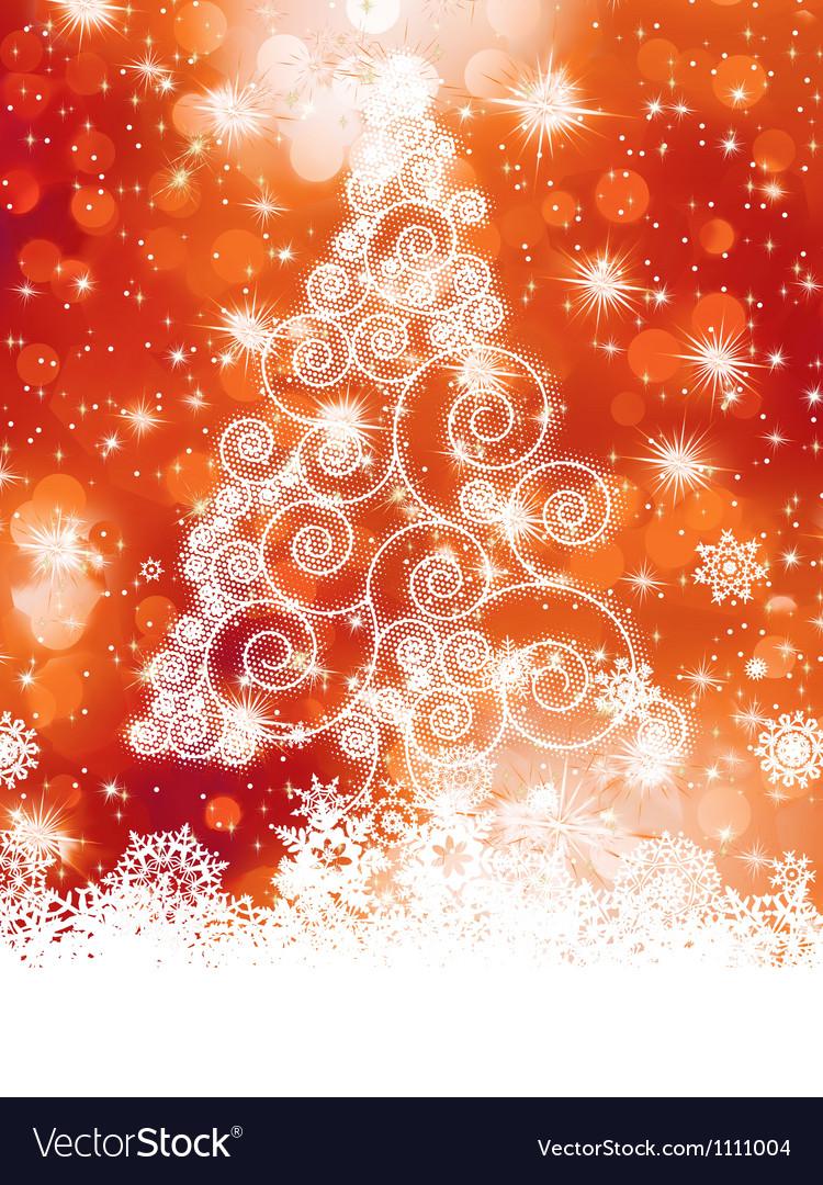 Elegant christmas tree background vector | Price: 1 Credit (USD $1)