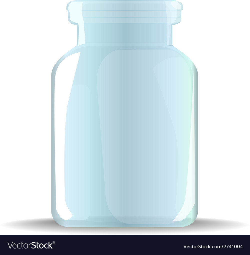 Glass jar vector | Price: 1 Credit (USD $1)
