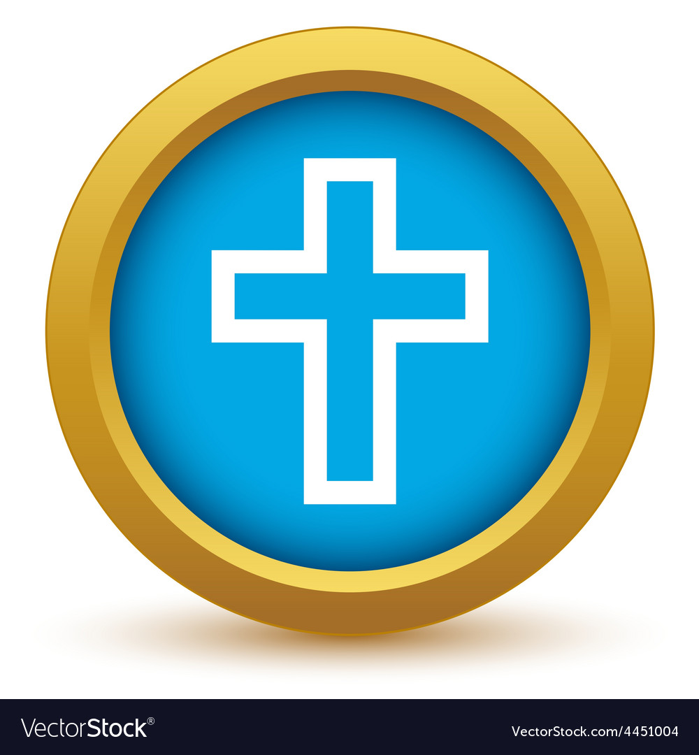 Gold christianity icon vector | Price: 1 Credit (USD $1)