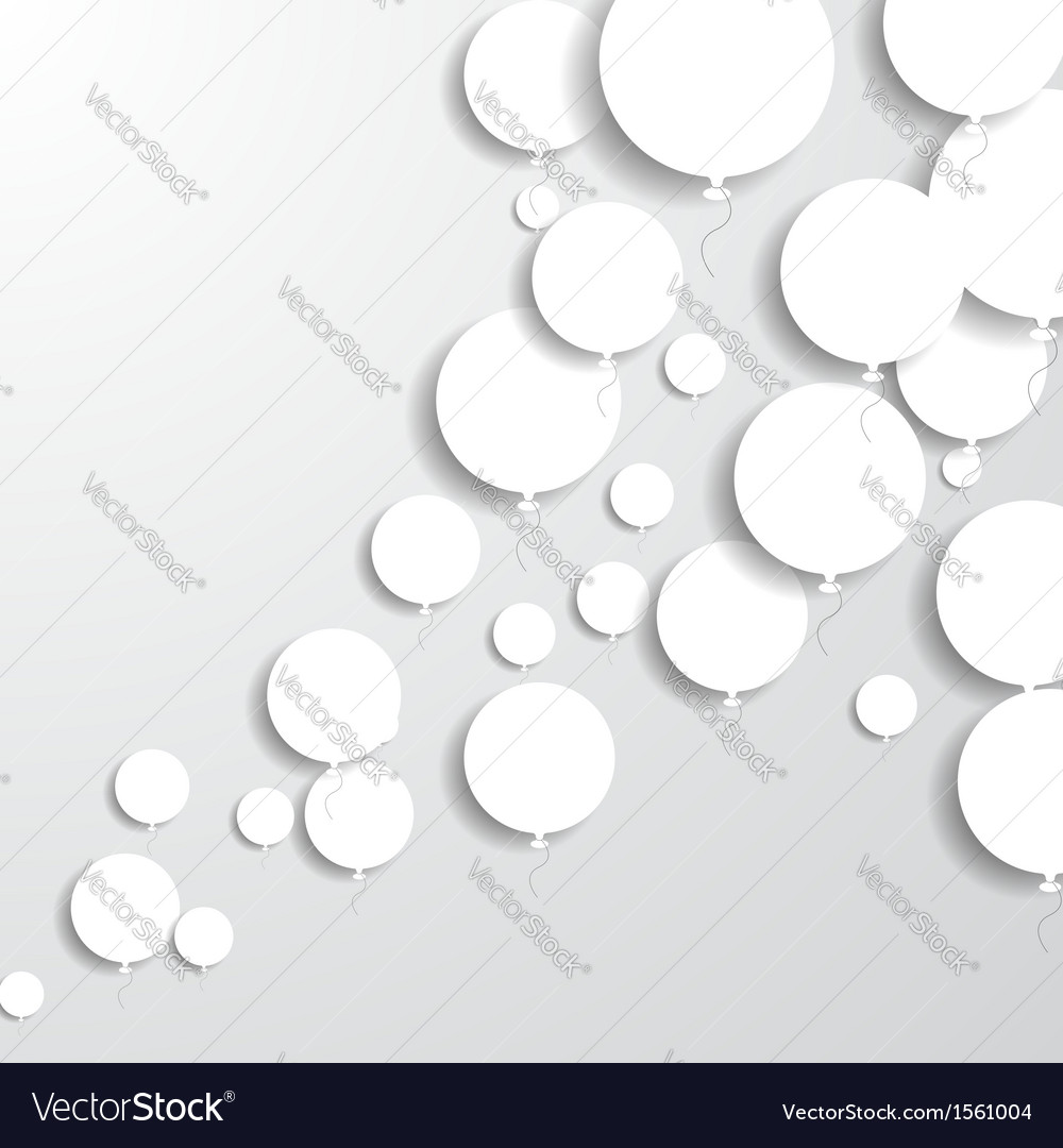 Paper balloons vector | Price: 1 Credit (USD $1)