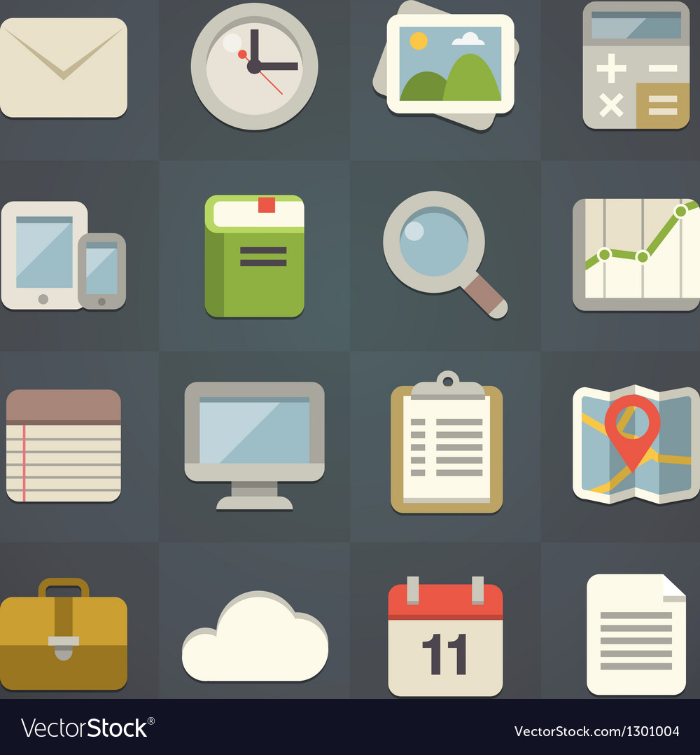 Universal flat icons vector   Price: 3 Credit (USD $3)