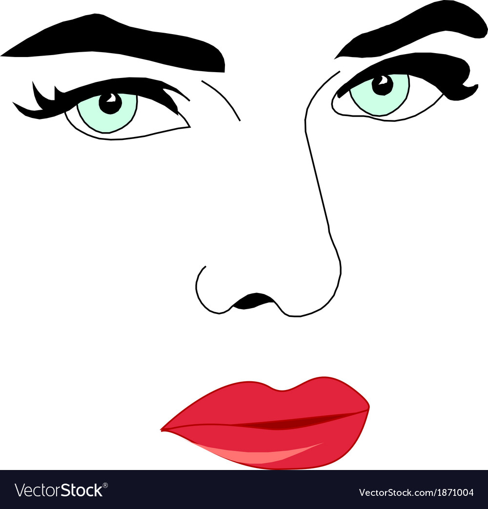 Women face vector | Price: 1 Credit (USD $1)
