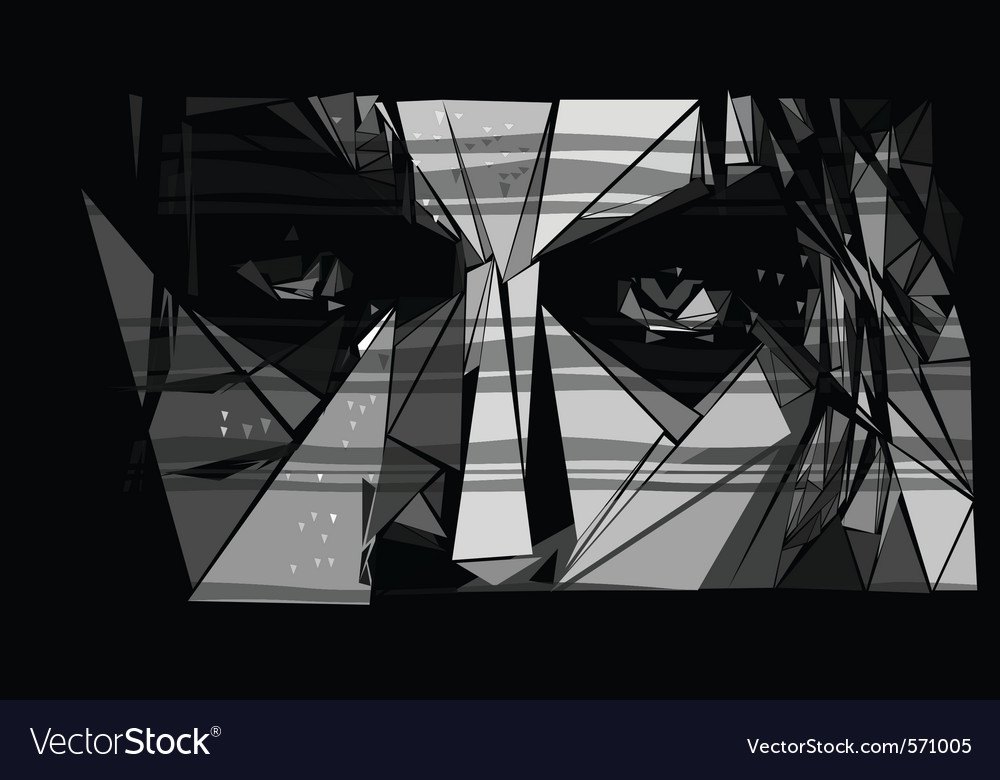 Abstract face vector | Price: 1 Credit (USD $1)