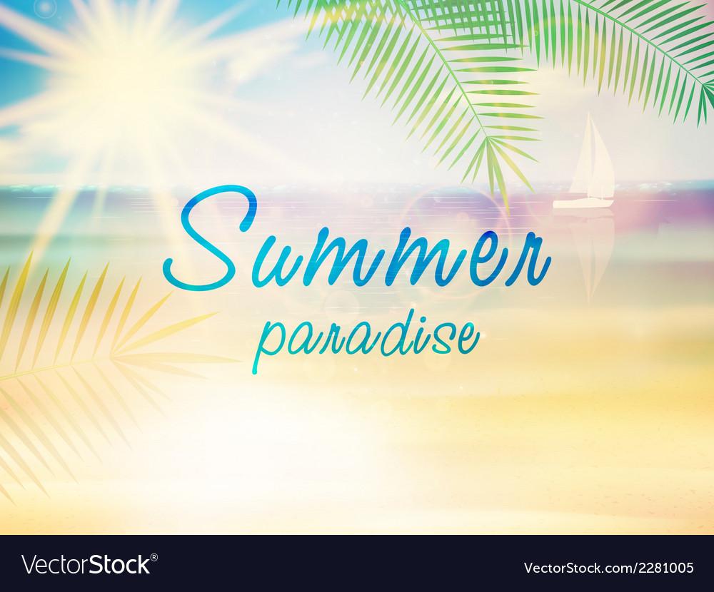 Beautiful seaside view poster vector   Price: 1 Credit (USD $1)