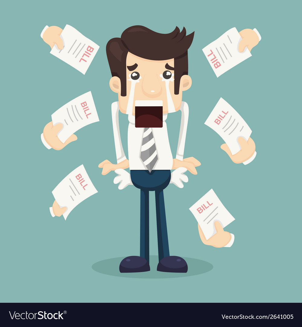 Businessman no money vector | Price: 1 Credit (USD $1)