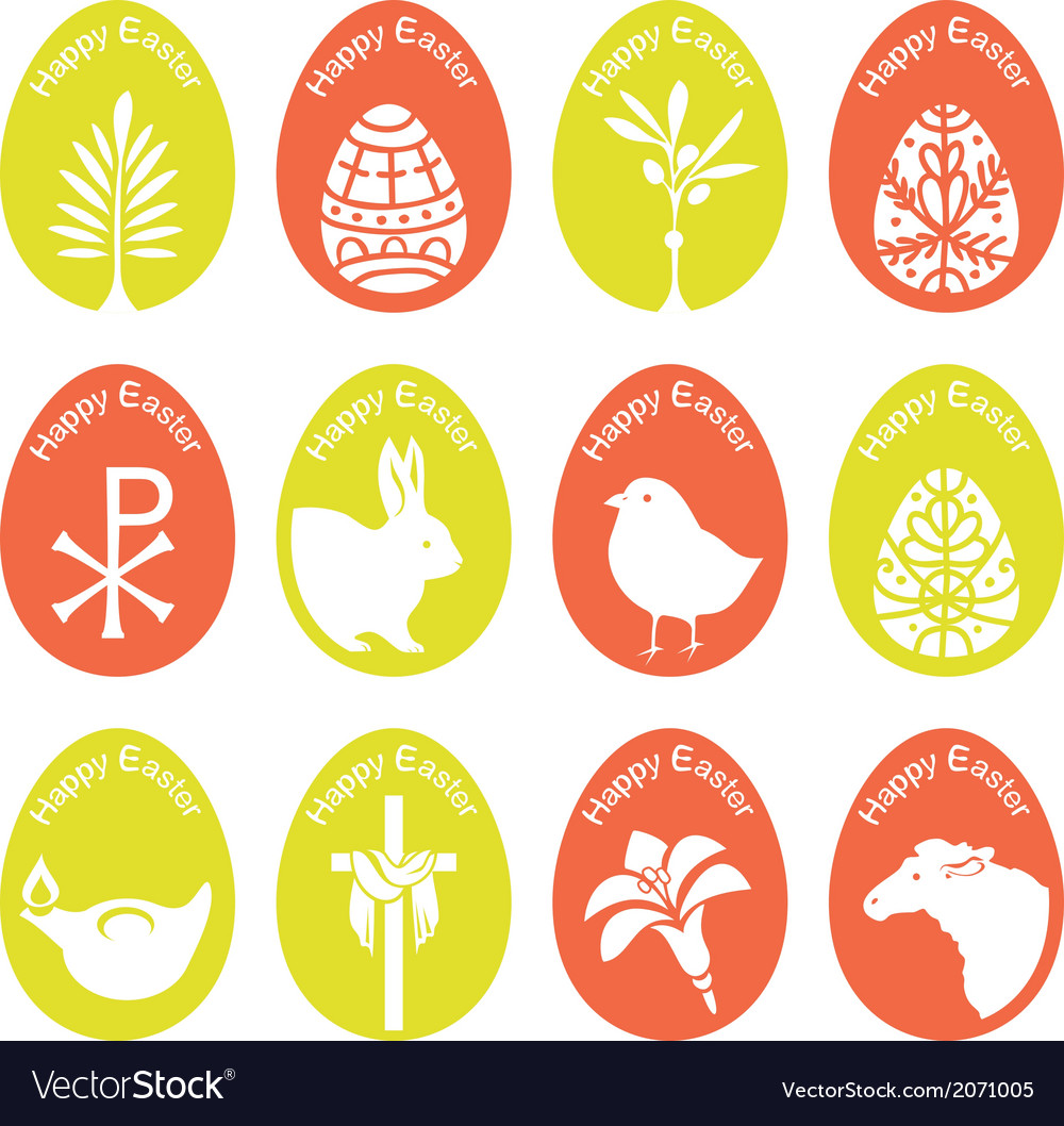 Eggs with symbols vector | Price: 1 Credit (USD $1)
