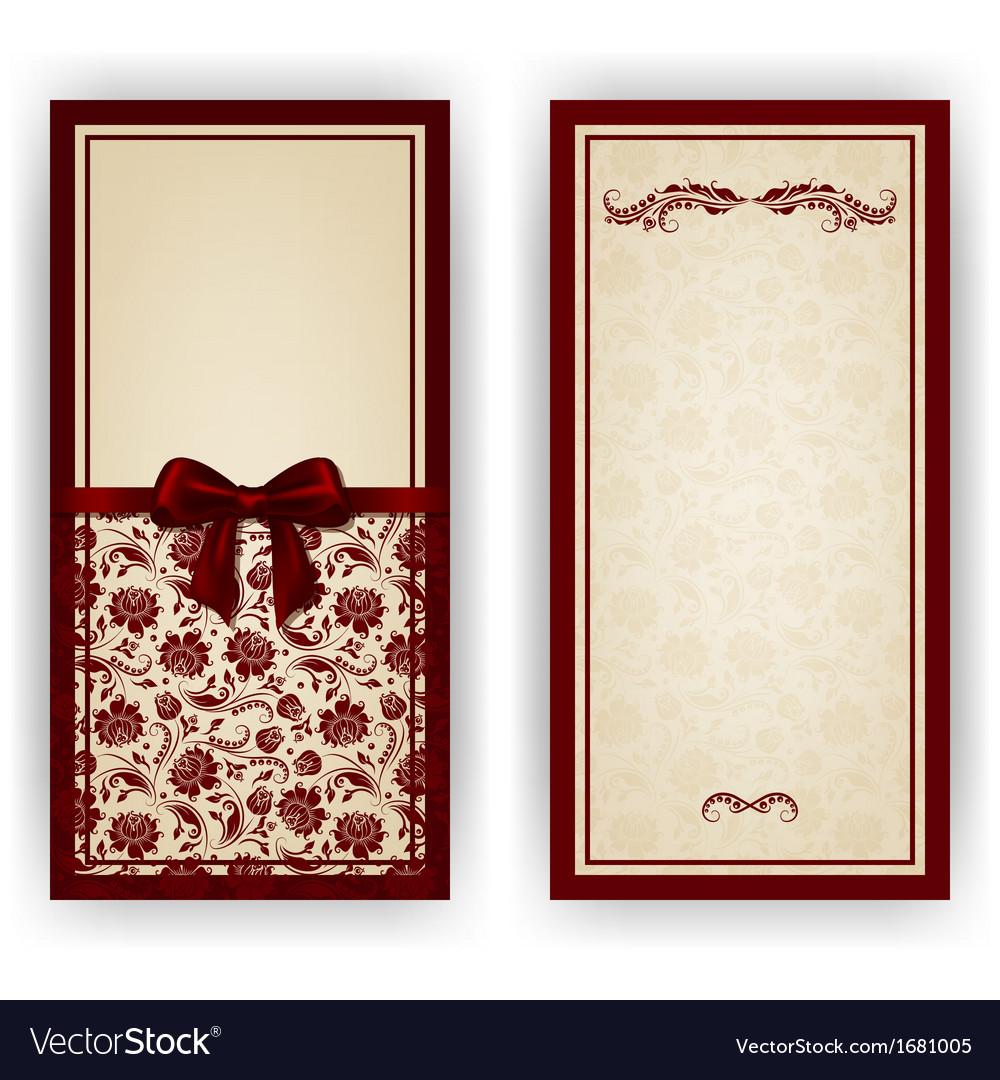 Elegant template for luxury invitation card vector   Price: 1 Credit (USD $1)
