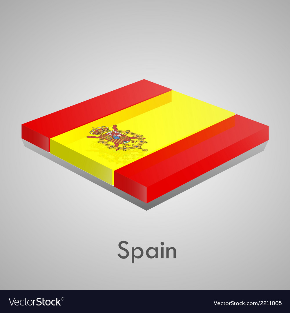 European flags set - spain vector | Price: 1 Credit (USD $1)