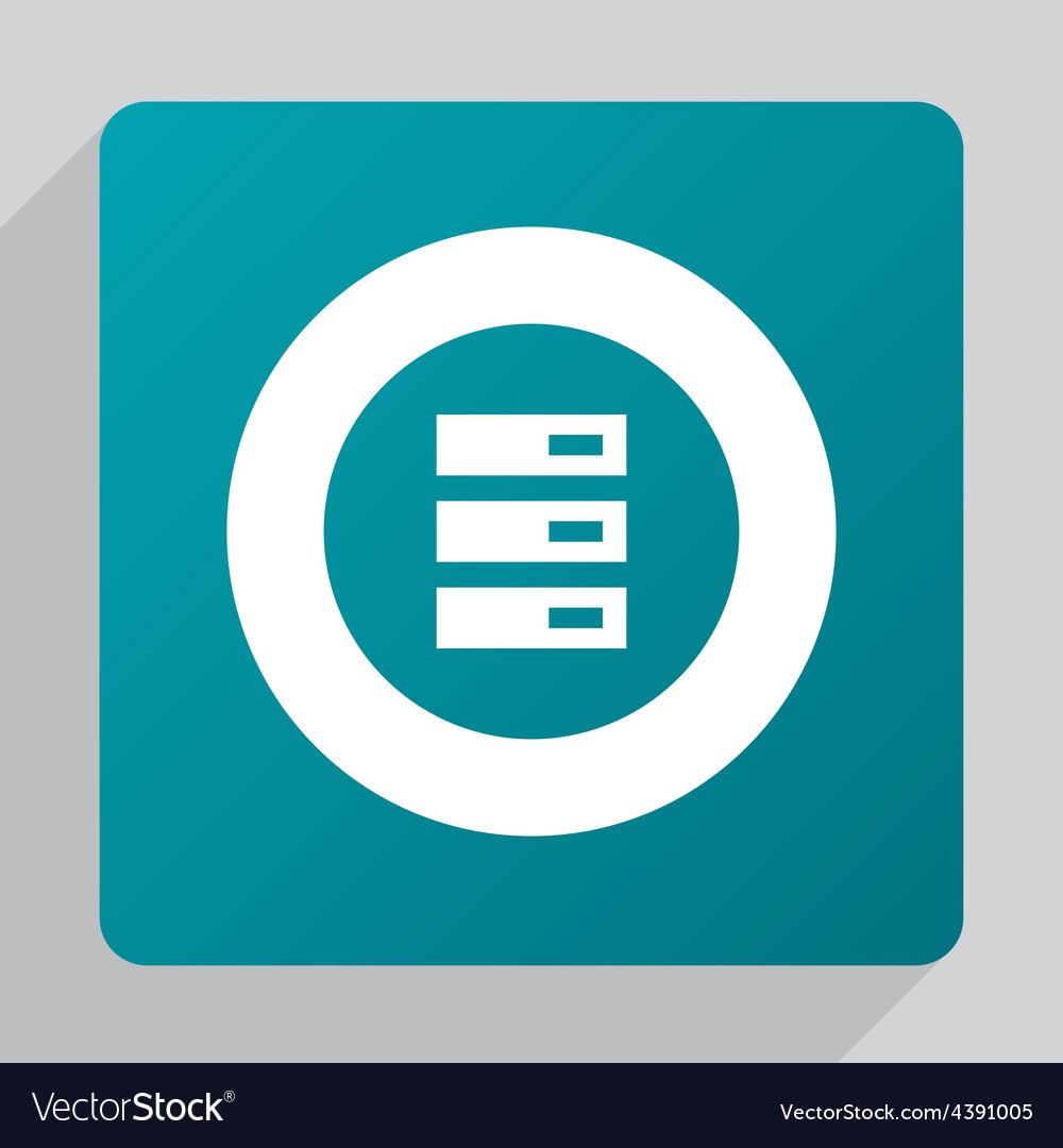 Flat server icon vector | Price: 1 Credit (USD $1)