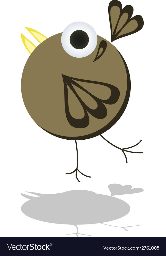 Funny little cartoon bird vector | Price: 1 Credit (USD $1)