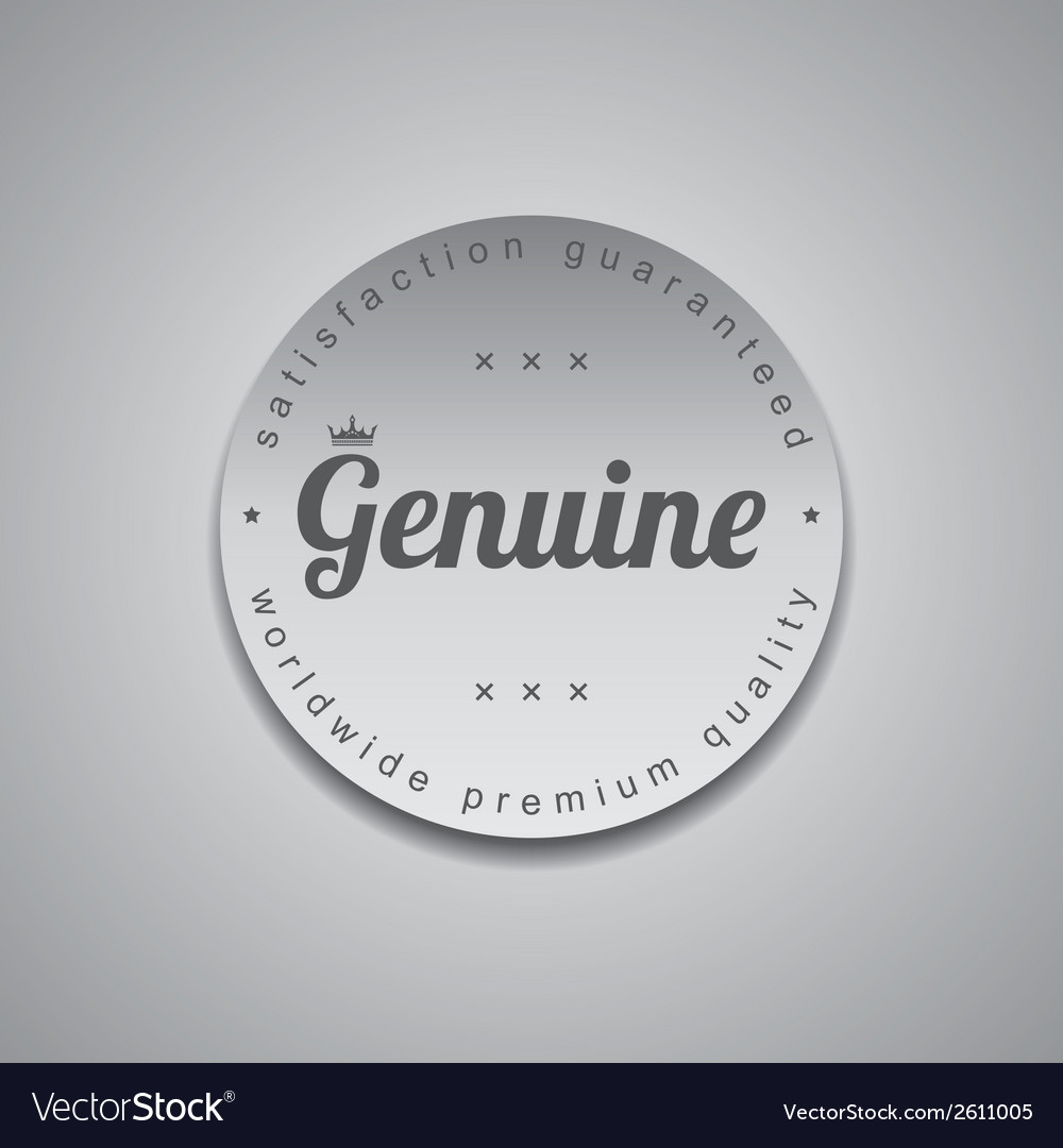Genuine label vector | Price: 1 Credit (USD $1)