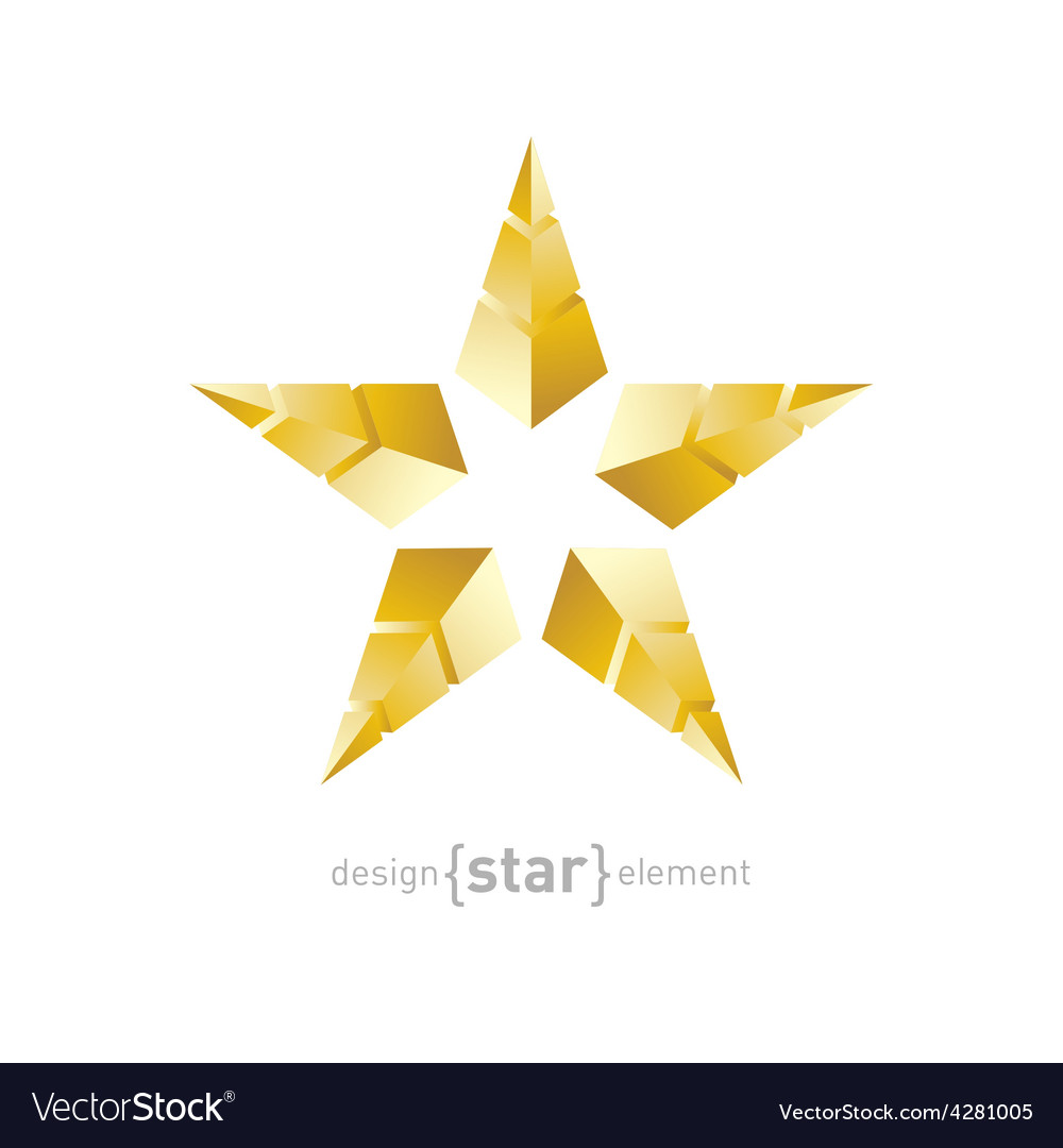 Golden star made of pyramids vector | Price: 1 Credit (USD $1)
