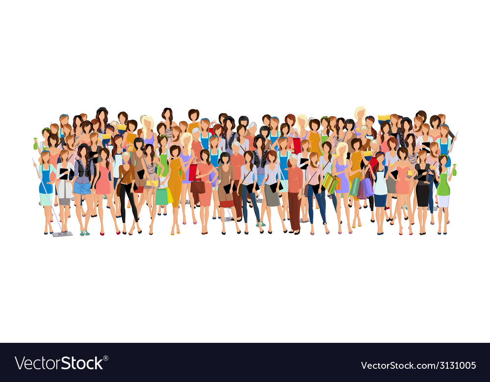 Group of woman vector | Price: 1 Credit (USD $1)
