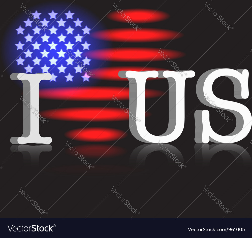 I love us vector   Price: 1 Credit (USD $1)