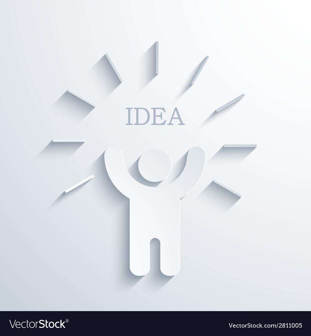 Modern concept idea icon vector | Price: 1 Credit (USD $1)