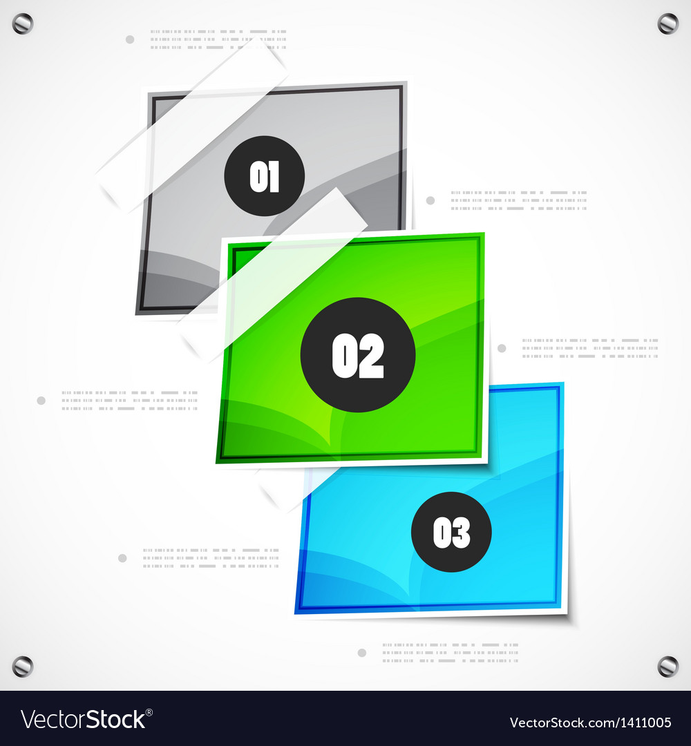 Option steps modern template vector | Price: 1 Credit (USD $1)