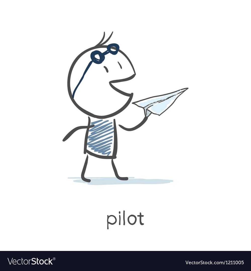 Pilot vector | Price: 1 Credit (USD $1)