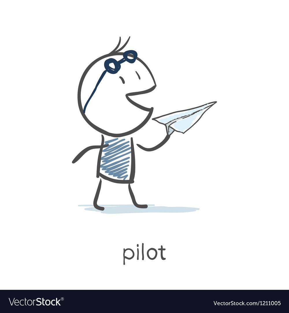 Pilot vector | Price: 1 Credit (USD $1)