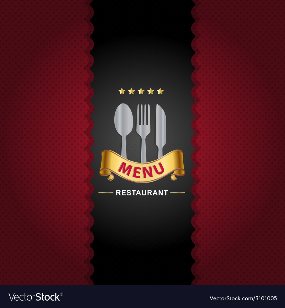 Restaurant menu design on royal background vector | Price: 1 Credit (USD $1)