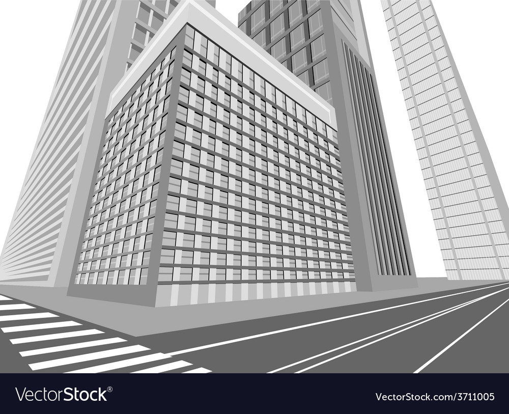 Road and city vector | Price: 1 Credit (USD $1)