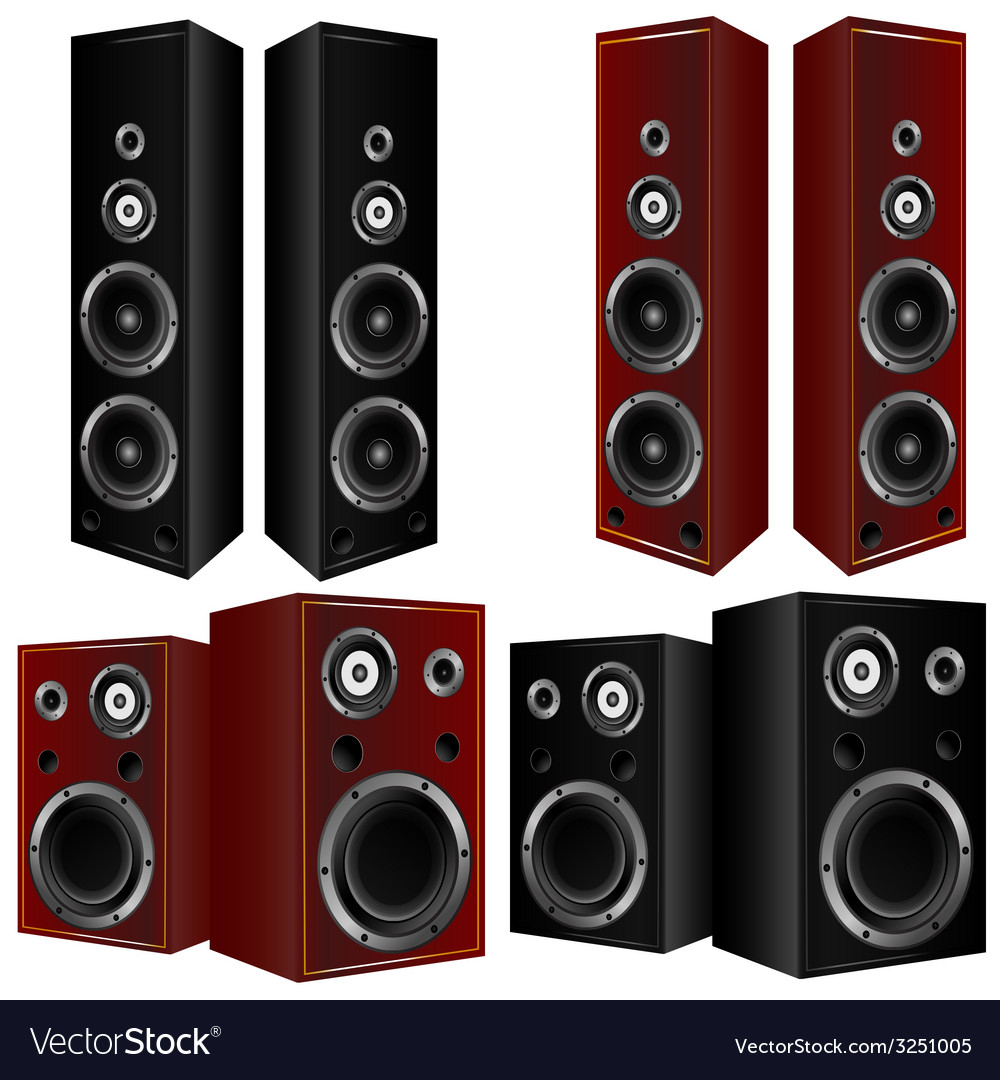 Speaker in brown and black color art vector | Price: 1 Credit (USD $1)