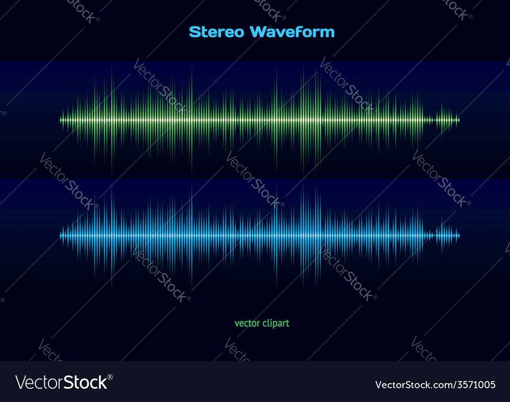 Stereo waveform vector | Price: 1 Credit (USD $1)