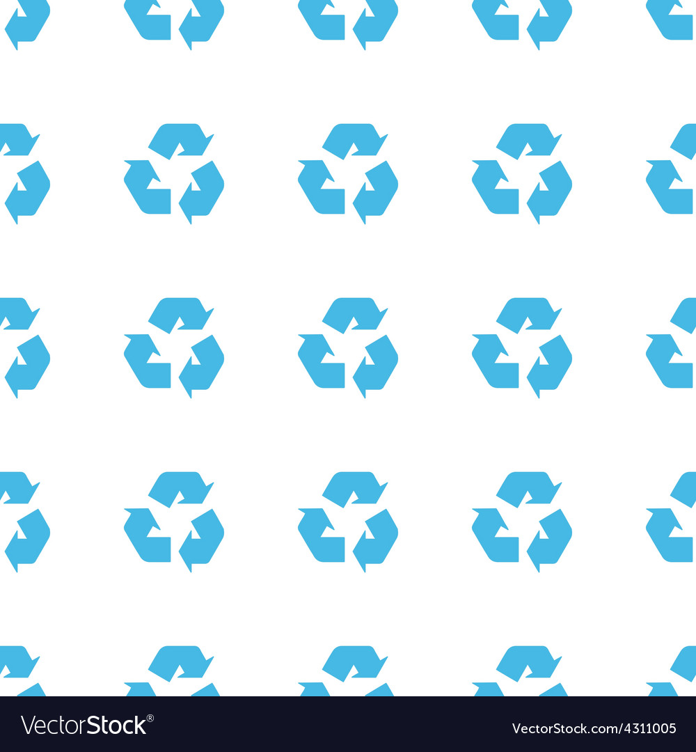 Unique recycling seamless pattern vector | Price: 1 Credit (USD $1)