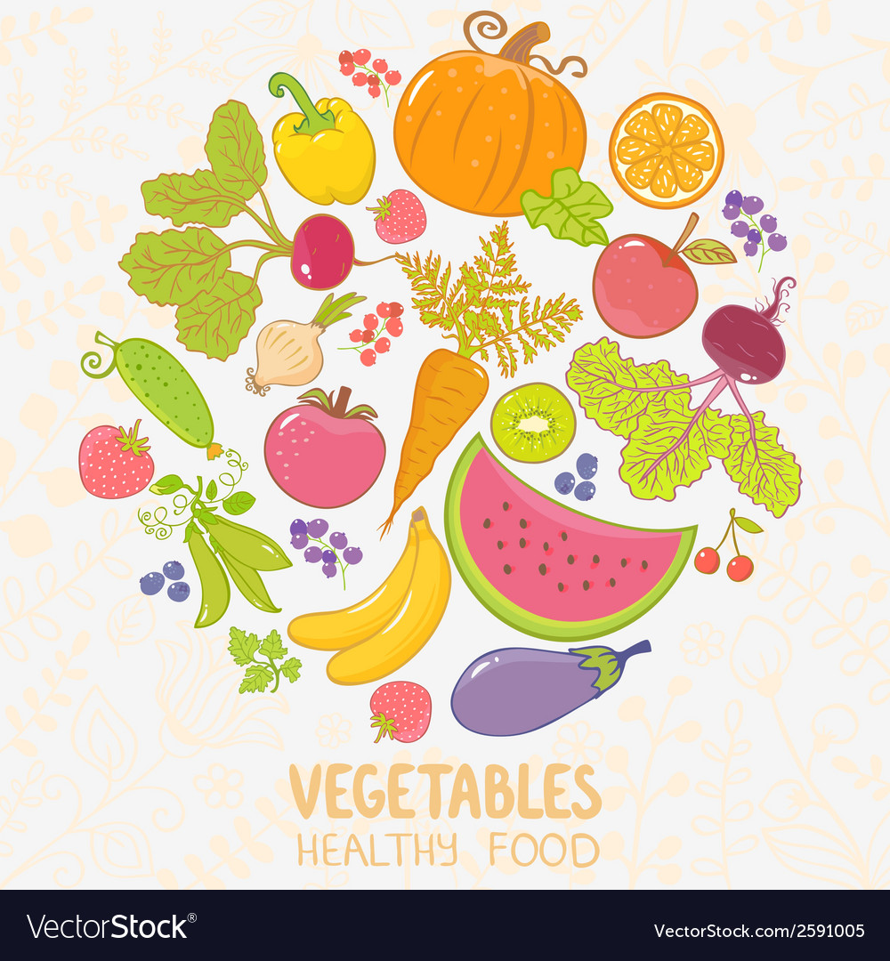 Vegetables fruit vector | Price: 1 Credit (USD $1)