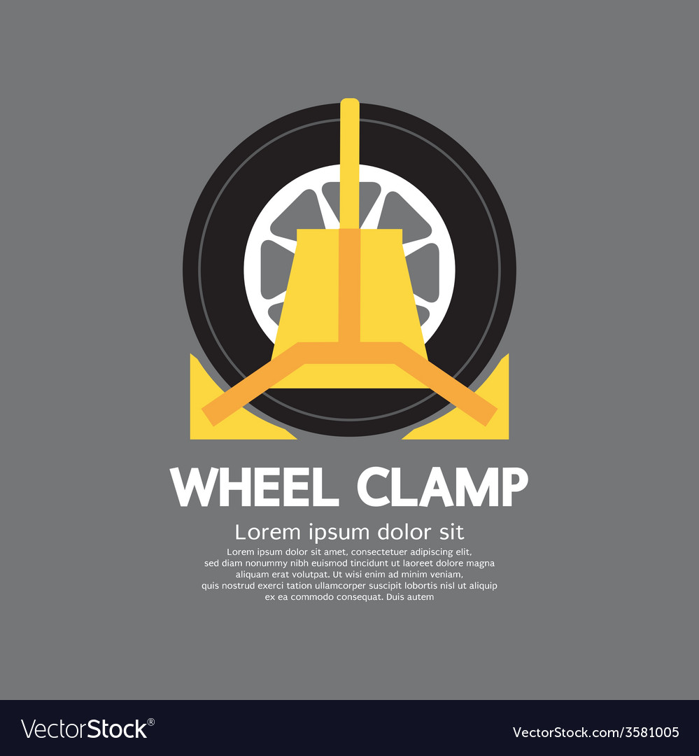 Wheel clamp side view vector | Price: 1 Credit (USD $1)