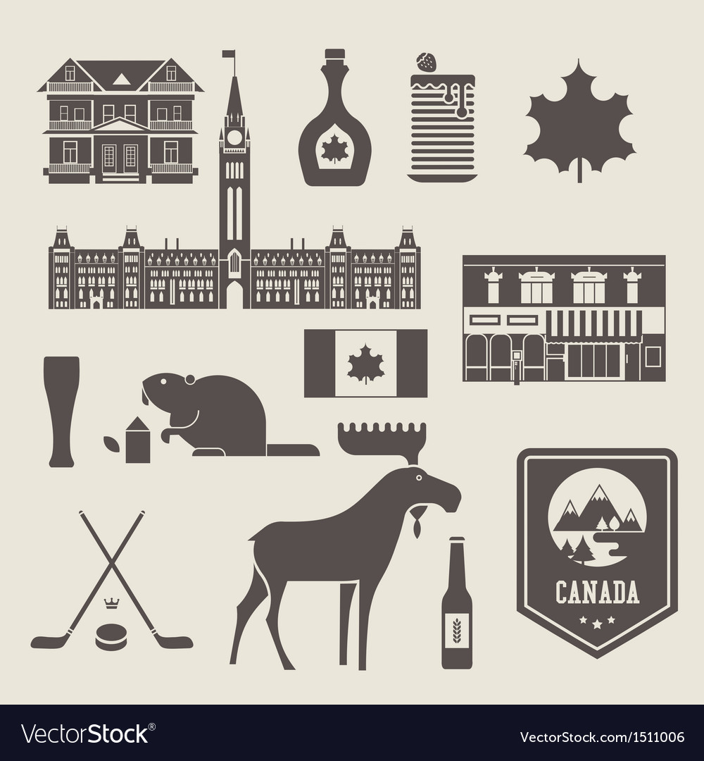 Canada icons vector | Price: 3 Credit (USD $3)