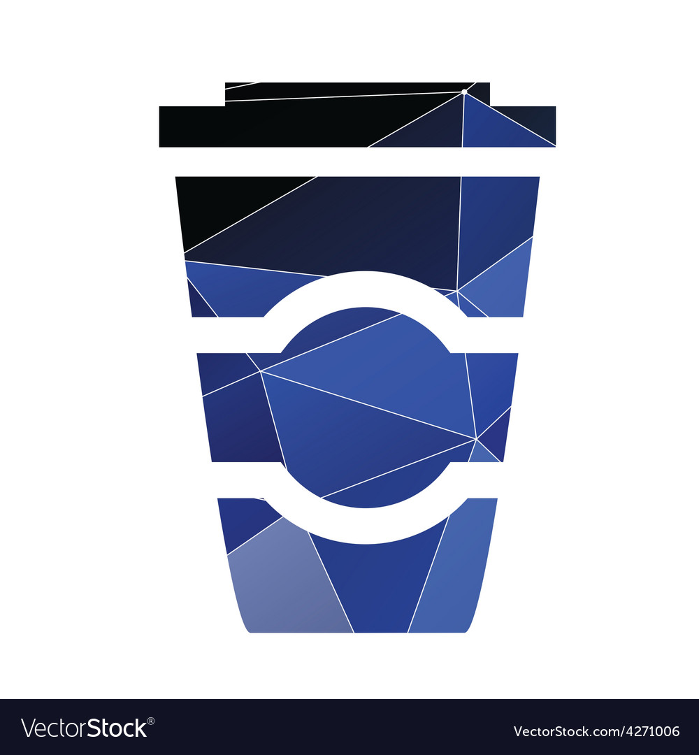 Coffee icon abstract triangle vector | Price: 1 Credit (USD $1)