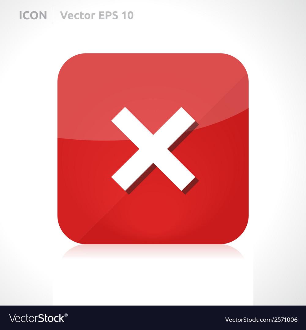 Cross icon vector   Price: 1 Credit (USD $1)