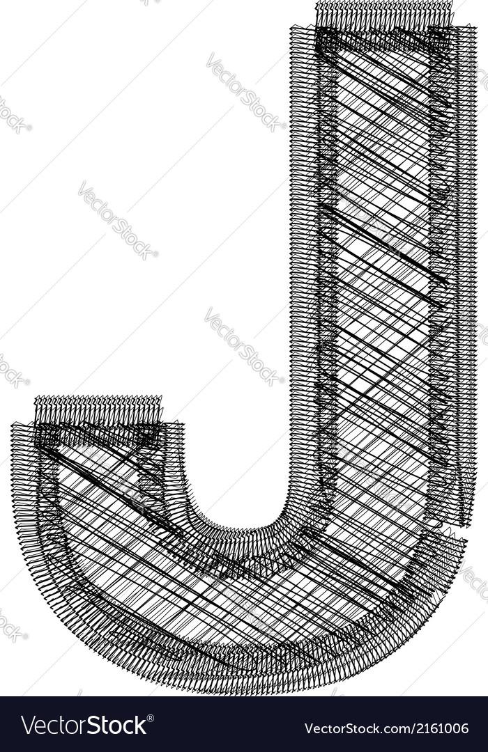 Font letter j vector | Price: 1 Credit (USD $1)