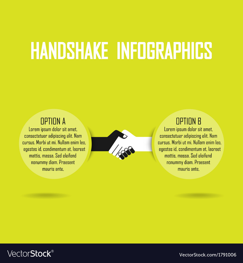 Handshank infographics vector | Price: 1 Credit (USD $1)