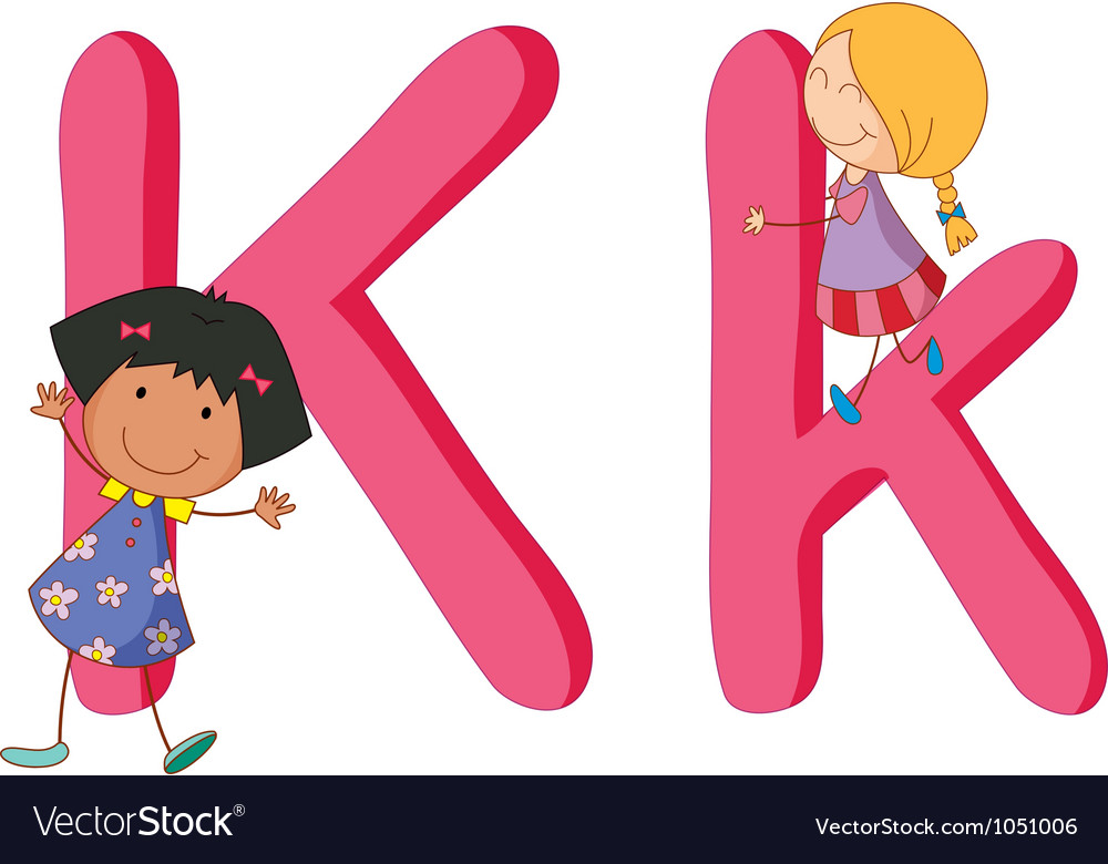 Kids in the letters series vector | Price: 1 Credit (USD $1)
