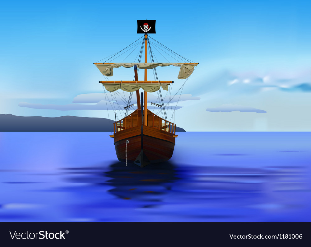 Pirates ship vector | Price: 1 Credit (USD $1)