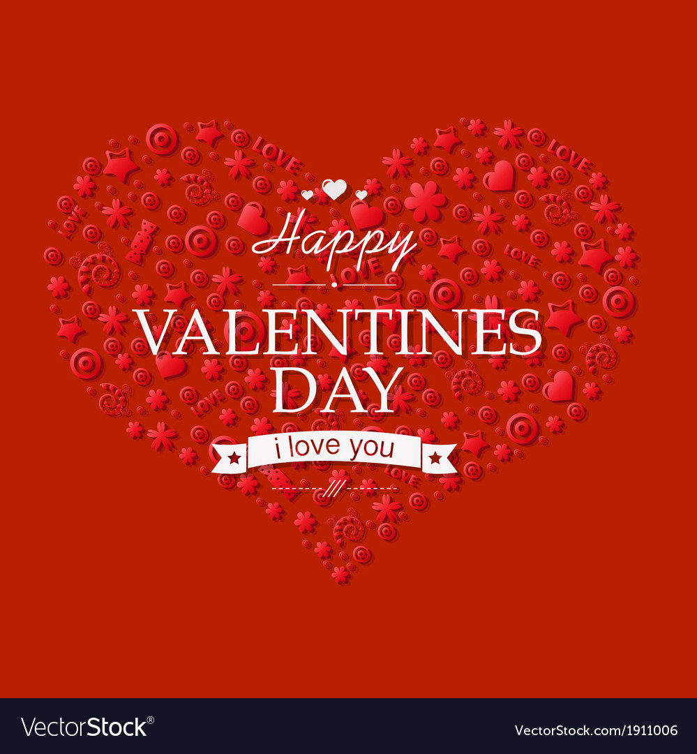 Red valentines day card vector | Price: 1 Credit (USD $1)